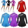 Girls Kids Roller/Ice Skating Tutu Dress Ballet Leotard Skirt Dance Wear Costume