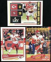 2020 Donruss Patrick Mahomes Base, Road to the Super Bowl, & 2000 Variation