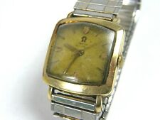 1954 OMEGA MENS VINTAGE GOLD FILLED 470 CALIBER AUTO SQUARE WATCH