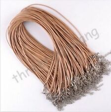 Wholesale 10Pcs/Lot Charms Real Leather Cord Chain Necklace with Lobster Clasp