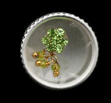 Bindi fleur strass vert bijoux de peau front ht de gamme 13mm  ING F 2428