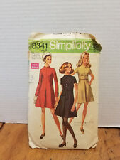 Vintage Simplicity Women's Pattern #8341 Size 8mp  Dress  CUT 1969
