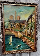 Canal of Venice,  Original Oil Painting, by  Mark Little, artist.