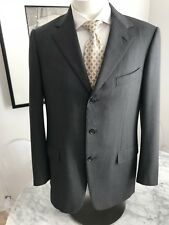 Ermenegildo Zegna Soft Wool Sport Coat. Dark Gray EU 50L US 40L. Excellent.