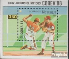 Nicaragua block177 unmounted mint / never hinged 1988 olympic. Summer `88, Seoul