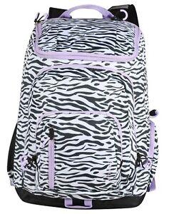 "Embark 19"" Jartop Elite Backpack Zebra Lavender Extra Large Capacity"