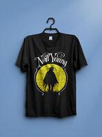 Neil Young Vintage Solo US Tour 93 T-Shirt by gildan New reprint
