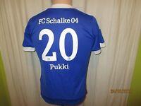 "FC Schalke 04 Adidas Heim Kinder Trikot 2012/13 ""GAZPROM"" + Nr.20 Pukki Gr.152"