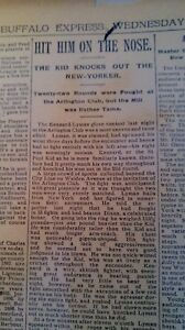 MAR 12, 1890 NEWSPAPER PAGE #J7016- BOXING- THE KENNARD-LYMAN GLOVE CONTEST