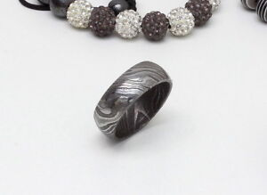 Handmade Damascus Steel Ring Wedding birthday Engagement gift