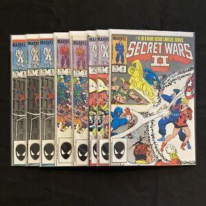Secret Wars II #4 #6 #7 #8 (1985 Marvel) Lot of 8 Comics/Multiples ~ Beyonder