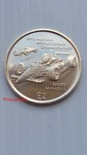 EXTREMELY RARE 1994*UNC*ISLE OF MAN INDY CAR NIGEL MANSELL F1 £2 TWO POUND COIN