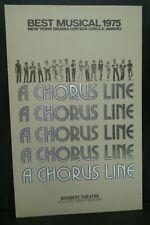 "A Chorus Line Theater Broadway Window Card Poster 14"" x 22"""