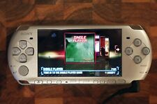 Sony PSP-3000 Portable Silver Handheld System + 4 Games in Great Condition