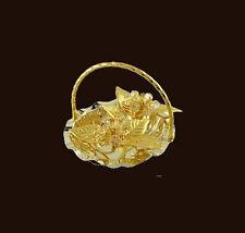 Cuenco de flores con Swarowski CRISTALES equipado Dorado Chapado en oro BOL