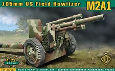 "ACE #72527, 1/72 ""US 105mm Howitzer M2A1 w/M2A2 Gun Carriage (WW2)"""