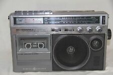 Vintage GE GENERAL ELECTRIC 3-5247A AM FM Radio Cassette Player/Recorder/Mic SEE
