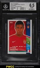 2017 Topps UEFA Champions League Stickers Kylian Mbappe ROOKIE RC #248 BGS 6.5