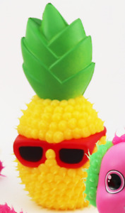 NEW with TAGS Pineapple Drop Dots Love Em's Squeeze Em Yellow w/  Red Sunglasses