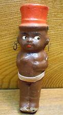"Vintage Black Americana Paper Mache Doll - 5 3/4"""