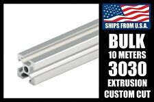 BULK! 10 Meters Custom Cut to Length 3030 Series Aluminum Extrusion, 8mm T-Slot