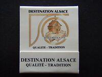 DESTINATION ALSACE HOTELS-RESTAURANTS QUALITE TRADITION MATCHBOOK