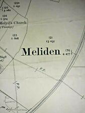 Old Antique Ordnance Map 1912 Flintshire I.16 Prestatyn  Meliden & Dyserth ...