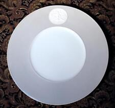 "KPM Arkadia Gray 11 3/4"" Gourmet Charger Plate White Medallion Goddess & Swan"