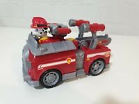 Paw Patrol Marshall with removable pack & action Fire Truck transforming