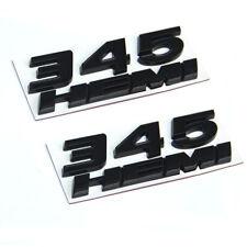 2set OEM Black 345 HEMI Emblem 345Hemi Badge 3D for Dodge Challenger L RAM