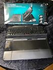 Genuine Logitech Alto Cordless Notebook Stand 920-001440 with Wireless Keyboard