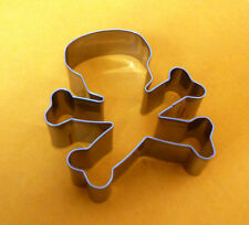 Skull Crossbone Halloween Fondant Pastry Baking Stainless Biscuit Cookie Cutter