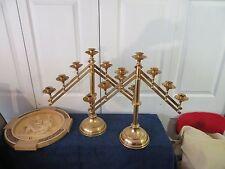 candelabra adjustable brass 7 candle pair