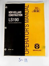 New Holland Ls190 Skid Steer Loader Operator's Owner's Manual 87012128 2/03