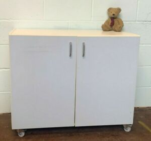 Office Kitchen unit computer lab Cabinet On Wheels FREE MANCHESTER DELIVERY