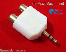 """3.5MM 1/8"""" Stereo Male to (2) RCA Female Jacks Audio """"Y"""" Splitter Adapter VWLTW"""