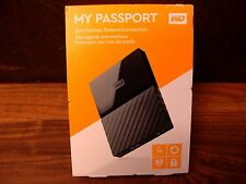 WESTERN DIGITAL MY PASSPORT 4TB WDBYFT0040BBK-WESN NEW NO RESERVE!!!!