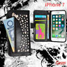 Punk Zipper Zip Wallet Bag ID Card Flip Leather Case Cover For iPhone 7 Plus / 7