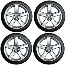 "SET OF FOUR GENUINE AUDI A4 B8 ALLROAD 17"" ALLOY WHEELS + DUNLOP WINTER TYRES"