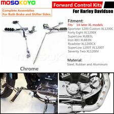 Forward Controls Kit Foot Pegs Levers Linkages For Harley Sportster XL Iron 883