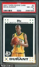 2007-08 Topps #2 Kevin Durant Seattle Supersonics RC Rookie PSA 8 NM-MT