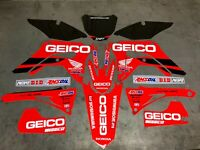 2017-2020 HONDA CRF 450R Graphics Kit Fits CRF450R 450 R GEICO Decal Sticker