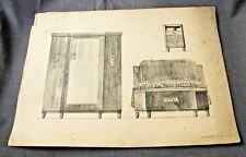 1920s ART DECO FRENCH FURNITURE MOBILIER FRANCAIS DESIGNS PRINT MOREAU PARIS  4