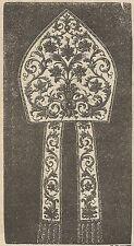 A4120 Religione - Mitra - Incisione - Stampa Antica del 1890