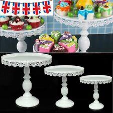 White Round Cake Stand Display Dessert Food Holder Wedding Party Decor 3 Size UK