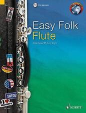 Easy Folk Flute (Schott World Music) by Paperback Book 9781847613936 NEW