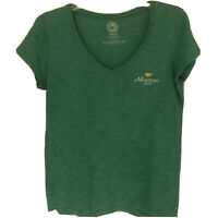 Womens The Masters 2015 Green V Neck Blouse Size M