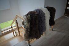 Sheepskin rug carpet real fluffy black white grey pink brown long hair