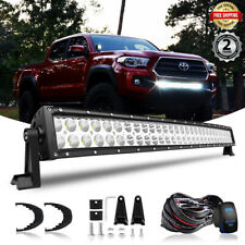 "31.5"" 32INCH LED Light Bar w/Wiring Kit Fit 2016-207 Toyota Tacoma Lower Bumper"