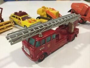 VINTAGE MATCHBOX LESNEY KING SIZE K15 RED MERRYWEATHER FIRE ENGINE TRUCK 1:43
